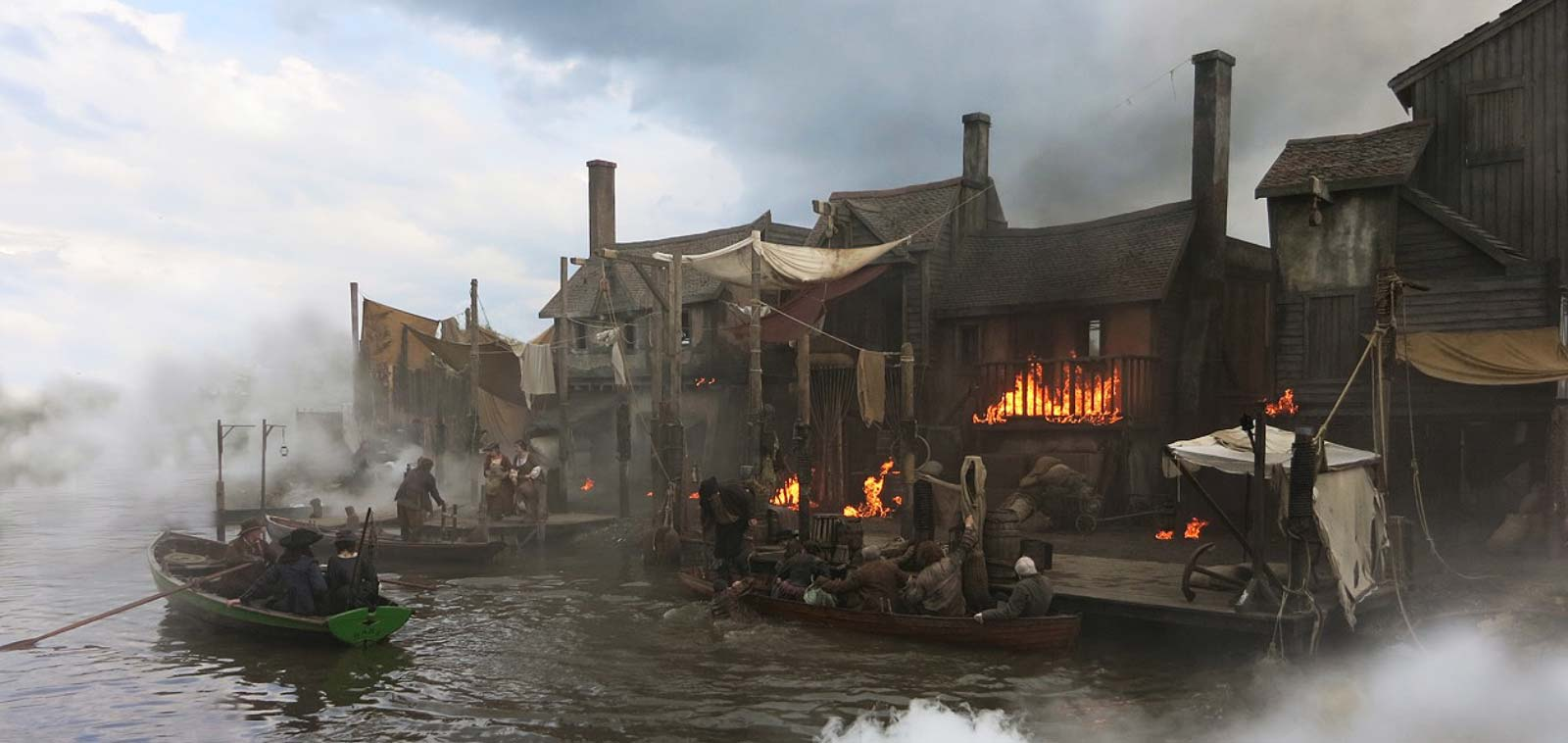 Dominic Hyman Production Designer Image of Great fire of London