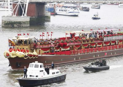 The Royal Barge - Thames Diamond Jubilee. Royal River Pageant.
